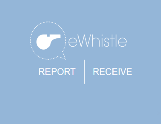 Report and receive: eWhistle Homepage